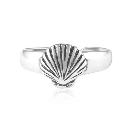 Adorable Seashell Sterling Silver Adjustable Toe Ring