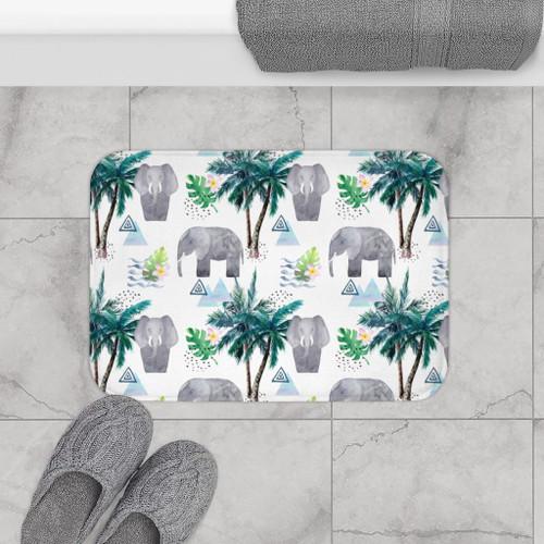 "24"" x 17"" Lucky Elephant Bath Mat Home Accents"