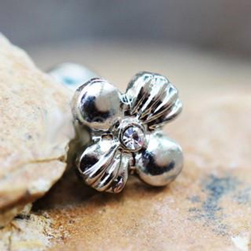 316L Antique Stainless Steel Charming Wildflower Cartilage Earring