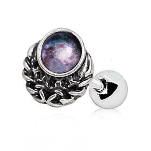 Unique 316L Stainless Steel Galaxy Charm Cartilage Earring
