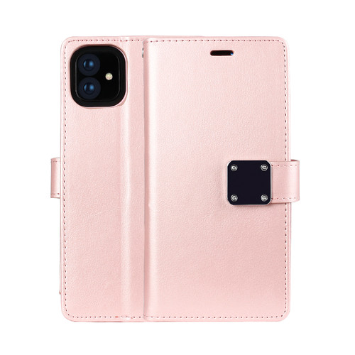 Multi Pockets Folio Flip Leather Wallet Case with Strap for iPhone 12-