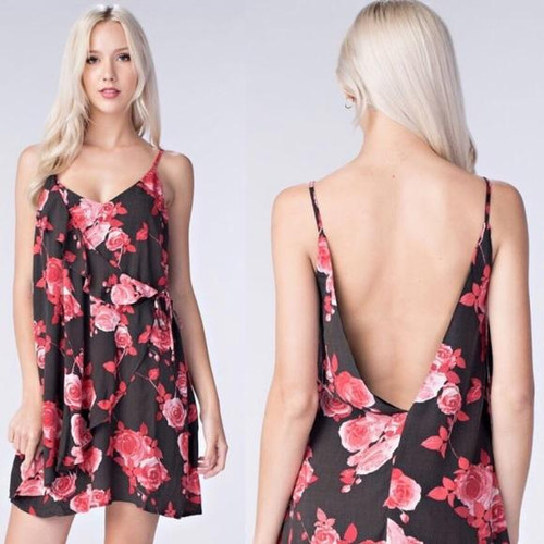Beautiful Honey Belle Red Floral Dress