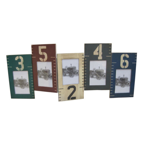 """1"""" x 33"""" x 20"""" Multi Color Wooden  Photo Frame. 274827"""
