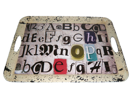 """1"""" x 20"""" x 15"""" Multi Color Metal  Inspiration Tray. 274836"""
