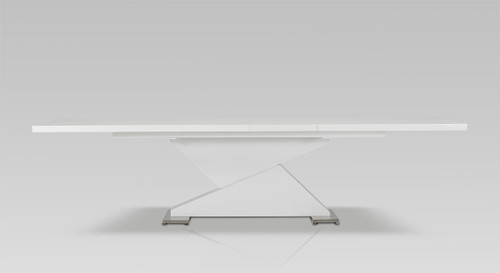 """30"""" White MDF and Steel Dining Table. 283322"""