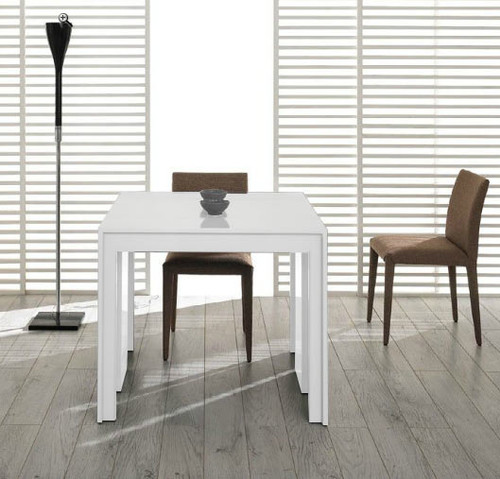 """30"""" White MDF Extendable Dining Table. 283342"""