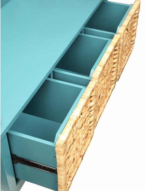 Pop of Color Teal Storage Bench. 286649