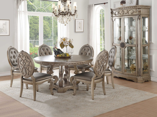 """60"""" X 60"""" X 30"""" Antique Champagne Dining Table. 318904"""