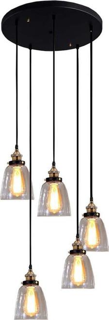 Lori 5-light Adjustable Cord Edison Lamp with Bulbs. 320219