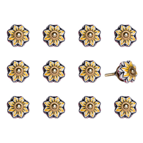 """1.5"""" x 1.5"""" x 1.5"""" Yellow Blue and Red  Knobs 12 Pack. 321677"""