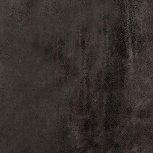 Rectangular Metal/Antiqued-Gold Black Genuine Leather Seat Accent Bench. 376191