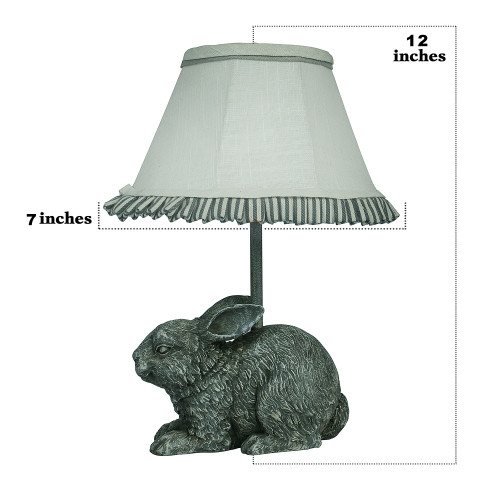 Love Bunny Accent Lamp with Ruffled Shade. 380498