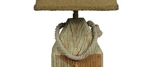 Seaside Accent Lamp with Rope and Starfish. 380500