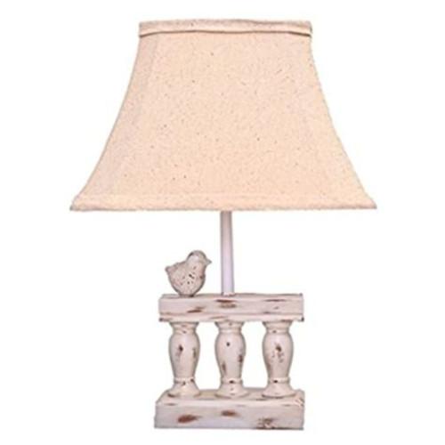 White Bird On Railing Accent Lamp. 380502