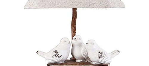 Three feathered Friends Atop a Stack of Books Accent Lamp. 380552