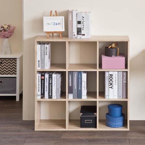 Natural Nine Grid Open Cube Storage Shelf. 384471