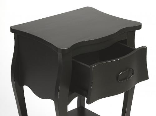 Black Single Drawer Nightstand. 388903