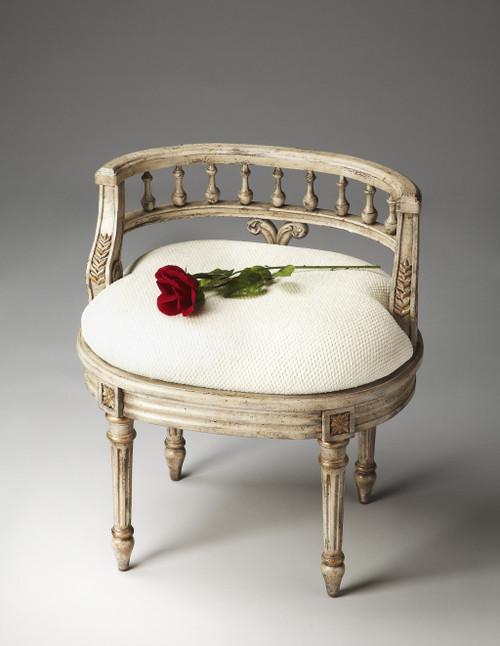 Vintage Champagne Cream Vanity Seat. 389159
