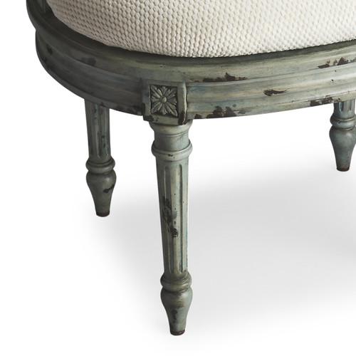 Vintage Sea glass Blue Vanity Seat. 389160