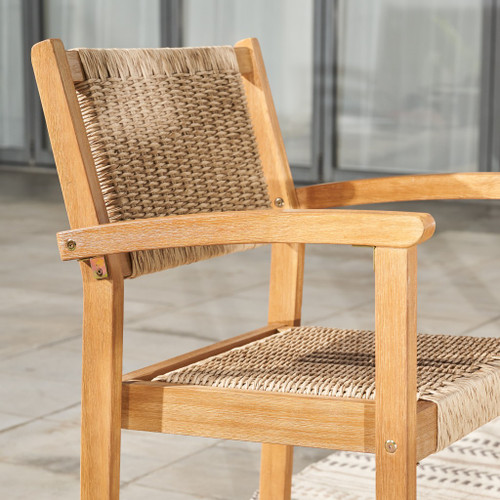 Set of Two Woven Dining Chairs. 389994