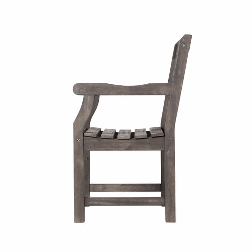 Distressed Patio Armchair with Diagonal Design. 389997