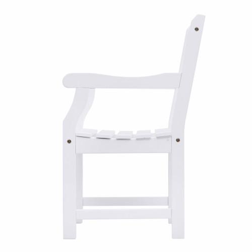 White Patio Armchair with Diagonal Design. 389998