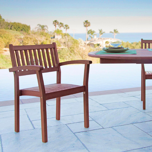 Set of Two Brown Stacking Armchairs. 390004