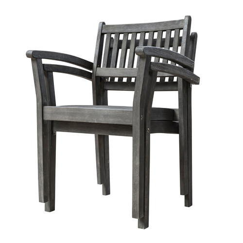 Set of Two Distressed Stacking Armchairs. 390005