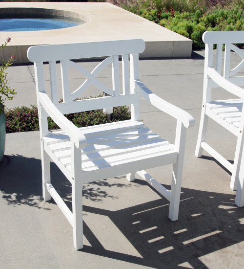 White Garden Armchair. 390008