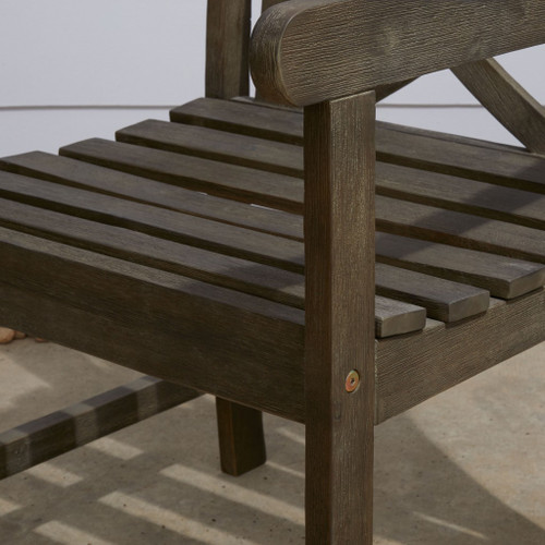 Distressed Patio Armchair with Decorative Back. 390010