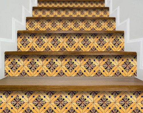 """4"""" X 4"""" Golden Rio Removable  Peel And Stick Tiles. 391577"""