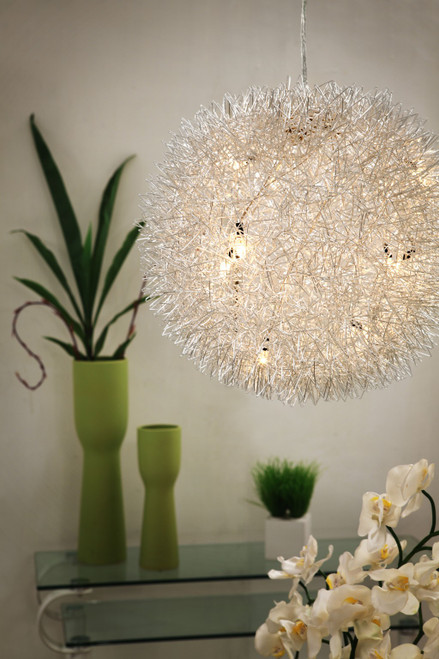 Silver Thistle Ceiling Lamp. 391869