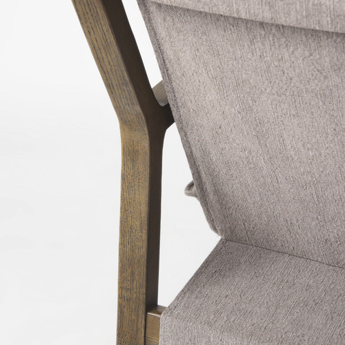 Modern Rustic Cozy Brown and Gray Accent Chair. 392008
