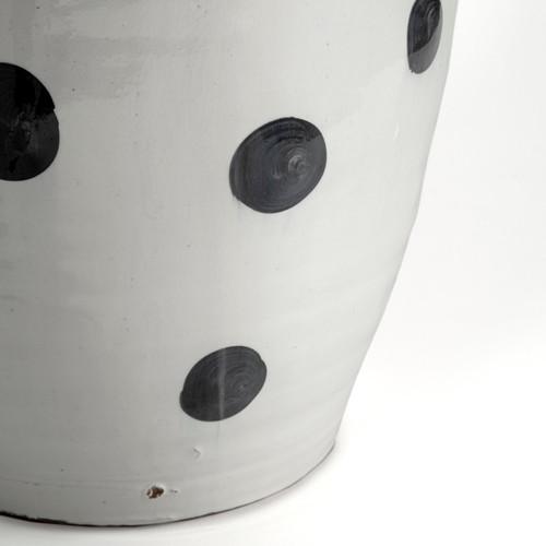 Petite White Polka Dot Ceramic Vase. 392184