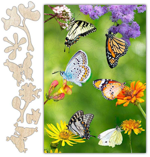 Butterfly Gathering Jigsaw Puzzle