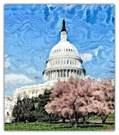 U.S. Capitol Oil Painting Jigsaw Puzzles