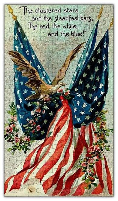 Flag Patriotic Wooden Puzzle