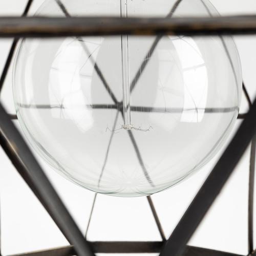 Black Metal Geometric Globe Hanging Light. 392835