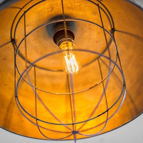 Rustic Gold Ton Metal Dome Hanging Light. 392836