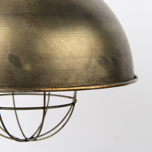 Distressed Bronze Metal Dome Hanging Light. 392842
