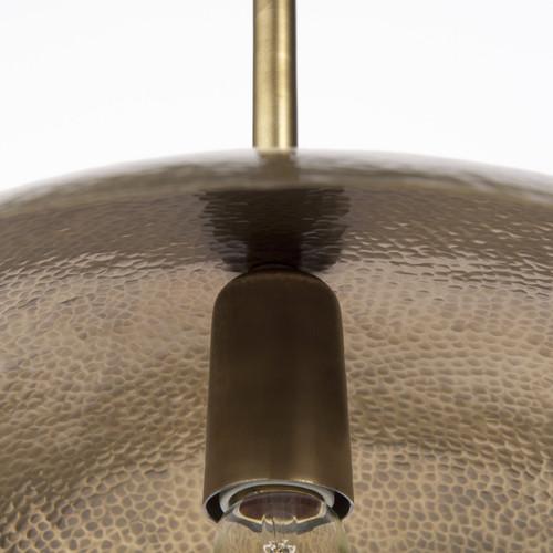 Hammered Gold Metal Hanging Pendant Light. 392843