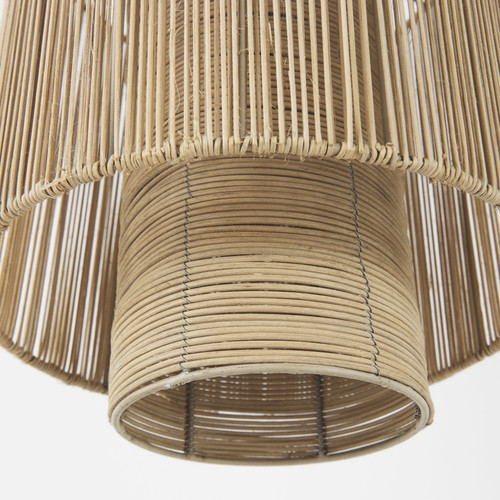 Natural Cane Cylindrical Hanging Pendant Light. 392844