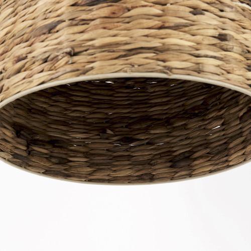 Brown Wicker Hanging Pendant Light. 392845
