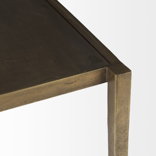 Dark Brown and Antiqued Gold Coffee Table. 393181