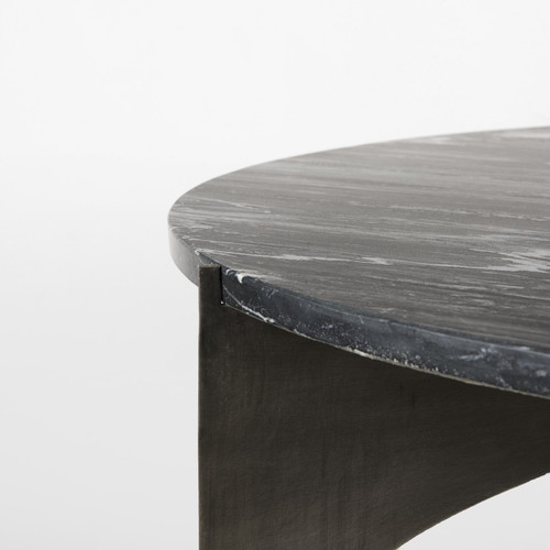 Contemporary Black Marble Coffee Table. 393182