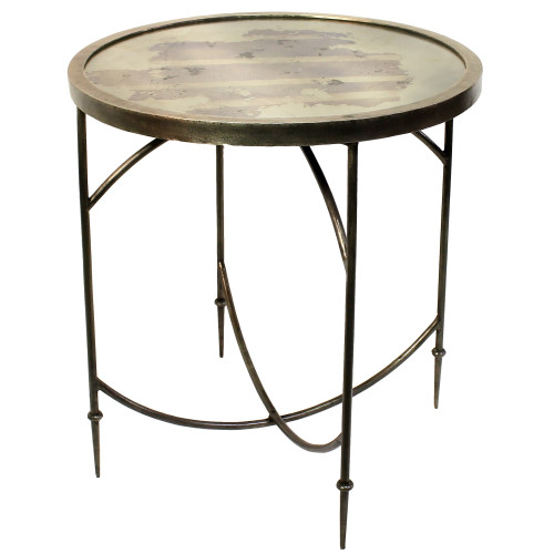 Gray Wooden Collapsing Table. 393483