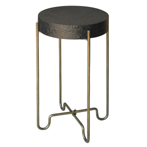 Black and Gold Side Table. 393496