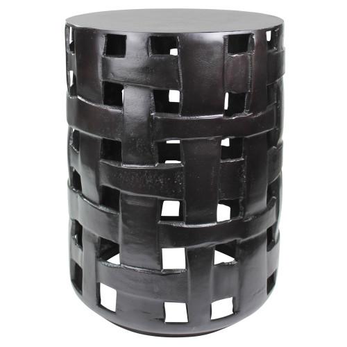 Cast Aluminum Woven Side Table. 393497