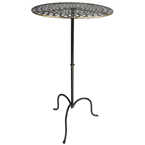 Gold Metal Patterned End Table. 393499