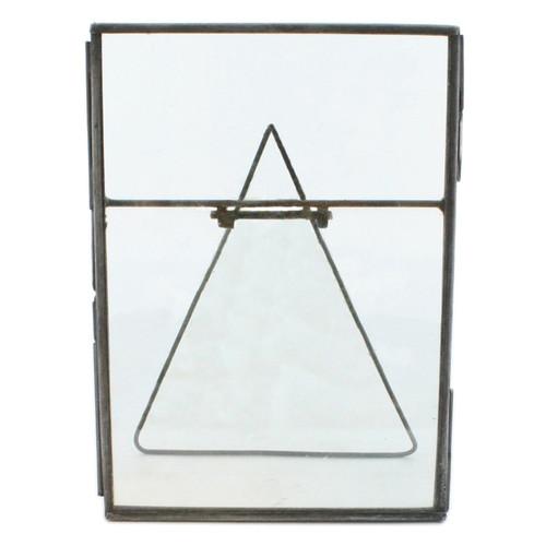5x7 Silver Metal Vertical Glass Frame. 394415